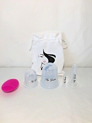 New 5 Piece Silicone Cup Pain Therapy Set Anti- Aging Cellulite Facial Body
