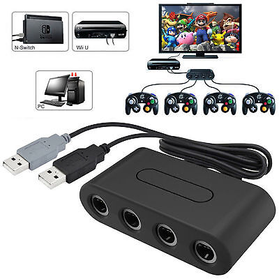 4 Port Gamecube NGC Controller Adapter For Nintendo Wii U / Switch and PC USB
