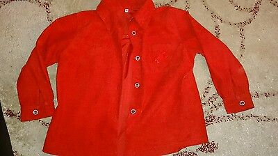 Red Boys Long Sleeve Shirt size 110cm