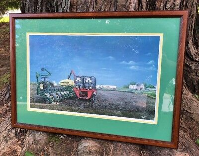 SIGNED Steve Carter 2003 #303/800 Limited Edition JOHN DEERE Farming Print Frame