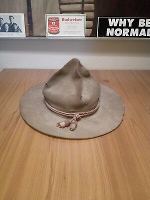 Vintage WWI WW1 US Doughboy Campaign Hat Advertising Cap History Piece Used