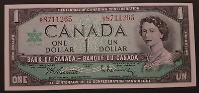 1867-1967 Centennial Of Canada Confederation 1 Dollar Beattie/Rasminsky