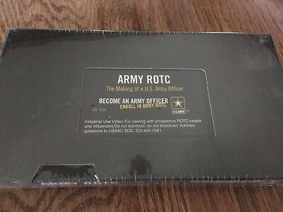 """Army ROTC """"The Making of an Army Officer"""" VHS Tape"""