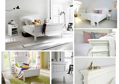 Nova Solo Halifax Solid Wood White Mahogany Beds - EU sizes 90, 160, 180, 200cm