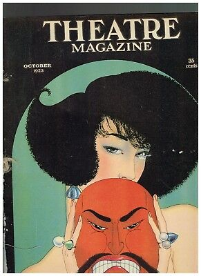 October 1923 Theatre Magazine fashion Baskerville cover