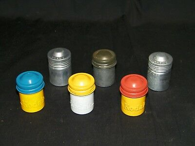 Lot Of 6 Old Vintage Camera Film Canisters