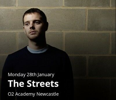 The Streets tickets - O2 Academy Newcastle x2 Stalls Standing