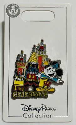 Mickey Mouse 90th Anniversary Let's Celebrate Birthday Cake Disney Pin