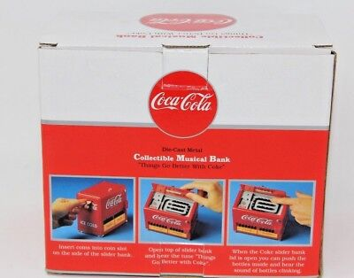 Vintage Enesco Coca Cola Tabletop Jukebox Musical Bank 1996 NIB Free Shipping