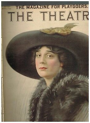 February 1911 The Theatre magazine fashion Jane Cowl by Bangs cover