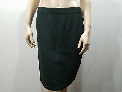 ST JOHN Collection By Marie Gray Size 8 Dark Green Pencil Skirt Santana Knit