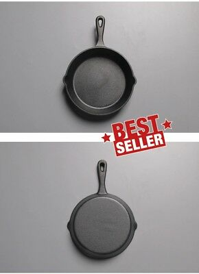 Seasoned 20cm Cast Iron Skillet Fry Pan with Silicone Handle