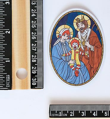 holy trinity McDonald mother mary jesus christ spoof funny decal sticker #2687