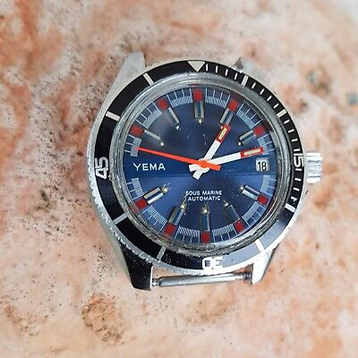 Yema Sous Marine Automatic, FE4611, Ref. 550051, for parts or restoration