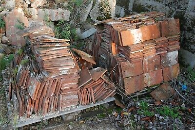 Job Lot of Approx 500 Reclaimed Old Clay Peg Tiles.