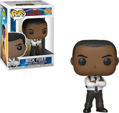 Captain Marvel - Nick Fury - Funko Pop! Marvel: (2019, Toy NUEVO)