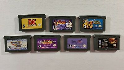 Lot of 7 Original NES Gameboy Donkey Kong Megaman Nightmare Before Christmas ++