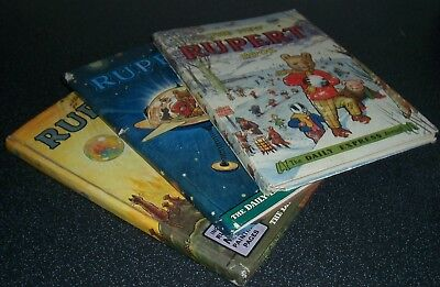 """x3 Vintage RUPERT ANNUALS - 1951, 1964 & 1968 - """"Collection Gap Fillers"""" G Only"""