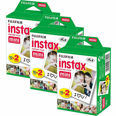 Fujifilm Instax Mini Blanc 60 Films pour Fuji Mini 8 8 Plus 90 70 25 50s Camera