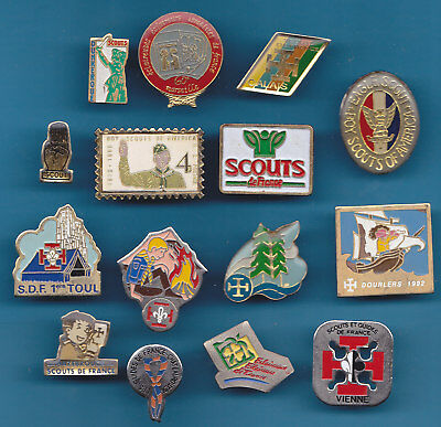 Lot De 15 Pin's Scouts France Et Usa +++++++++++++++++++++++++++++++++++++++++
