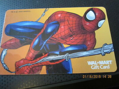 SPIDERMAN  WALMART swap trade collect NO VALUE GIFT CARD