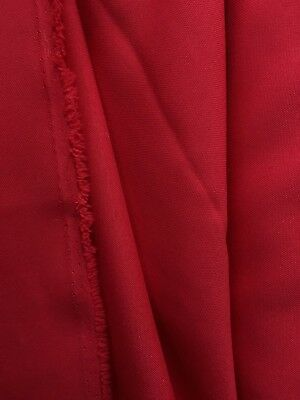 RED Solid 100% Polyester Poplin Fabric (60 in.) Sold By The Yard