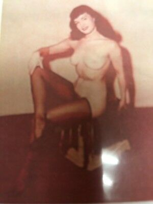 1950's BETTIE PAGE COLOR NEGATIVE PHOTOGRAPH PIN-UP RARE