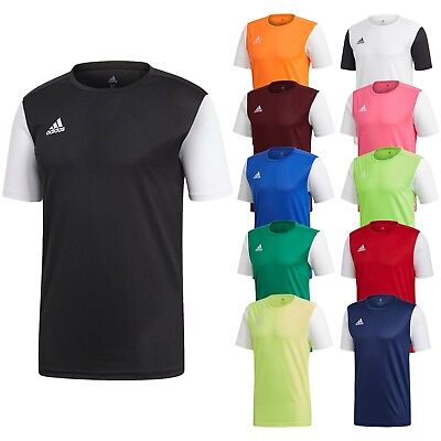 Adidas T Shirt Mens Estro 19 Climalite Short Sleeve Top Football Size S M L XL