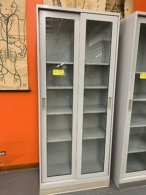"Fisher Hamilton Lab Storage Cabinet w/ Sliding Glass Doors (36"" x 16"" x 84"")"