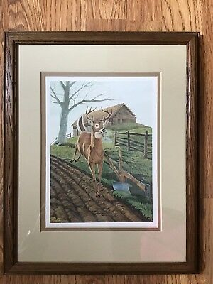 "1987 John Deere 150th Anniversary ""Misty Morning"" Print By john Ruthven"
