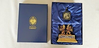 Franklin Mint House of Faberge Imperial Collector Pocket Watch w/Stand & Certs