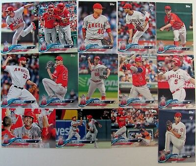 2018 Topps Series 1 & 2 L.a. Angels Baseball Team Set 25 Cards Ohtani Rookie