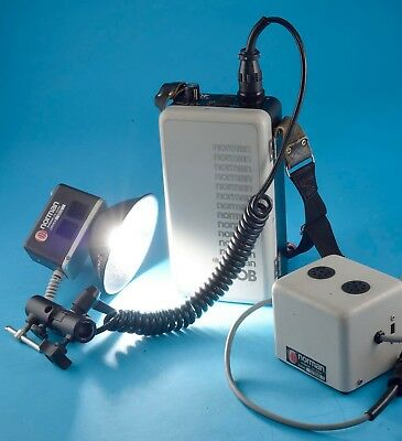 Norman 400B Rechargeable Flash Outfit Complete Works, Exc