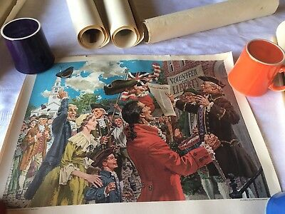 * Humble Oil  *Great Moments In  American History 11 Prints Total Big Lot!!