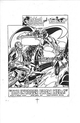 Lg. 1975 Batman Family # 1 Mike Grell Splash Page / Cover Production Acetate Art