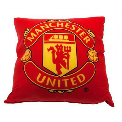 Manchester United FC Official Crested Square Cushion 40cm x 40cm Present Gift