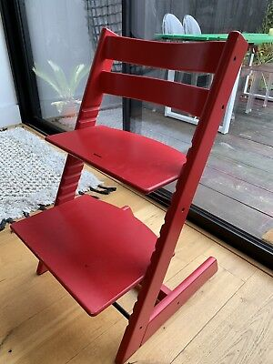 Stoke Tripp Trapp baby to child adjustable height high chair, Red, Scandi Design