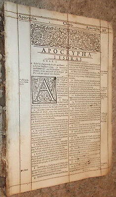 1616-KJV-Bible- Folio!-The Complete Apocrypha-Ruled in Red-Roman Font!!!