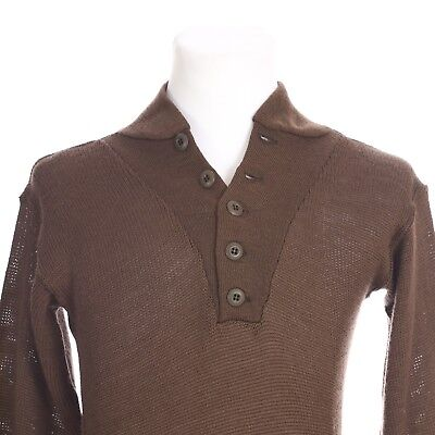 b99a7d3bef Military Issue Army Wool Pullover Sweater Men Medium Brown 8405-00-163-8906