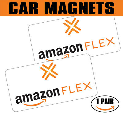 "New Car Signs Amazon Flex Car Magnetic Sign Vehicle 6"" x 12"" 1 Pair"
