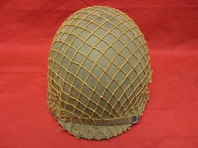 M1 Front Seam Helmet With Net And Westinghouse Liner