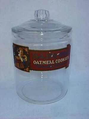 Vintage Dads Cookie / Peanut Jar & Glass Lid, Tom's Lance Store Display