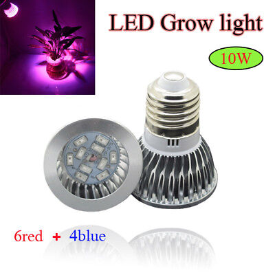 E27 10W Led Grow Light Lamp Bubs For Indoor Plant Hydroponics Veg Flower Growing