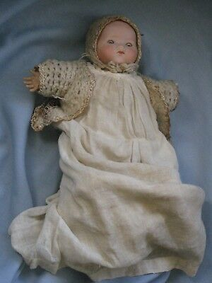 Small Antique Bisque Doll, All Original