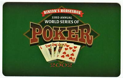 BINION'S HORSEHOE CASINO**33rd world series of poker Las Vegas slot/players card
