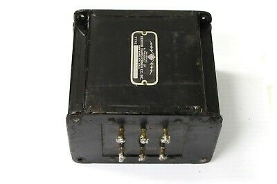 (1) 1940's Kenyon 115v 5v @ 6a + 6.3v @ 6.4aPower Tube Amplifier Transformer