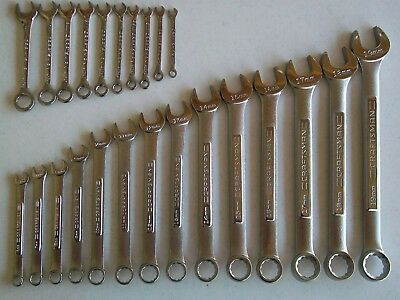 NEW Craftsman 24pc MM Metric Open/Box Combination Wrench Set 24 piece 12pt