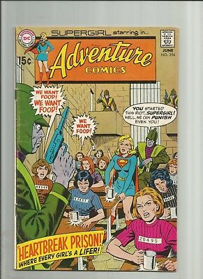 ADVENTURE COMICS #394  1970 DC comic Silver Age  with SUPERGIRL