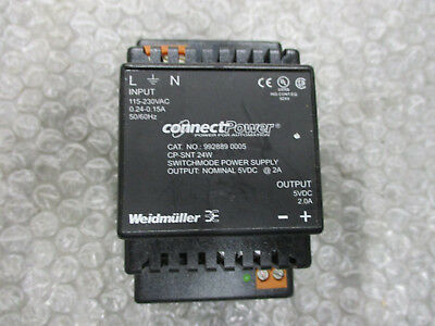 Weidmuller 992889 0005 Connect Power Supply 115-230VAC 5VDC 2A CP-SNT *Tested*