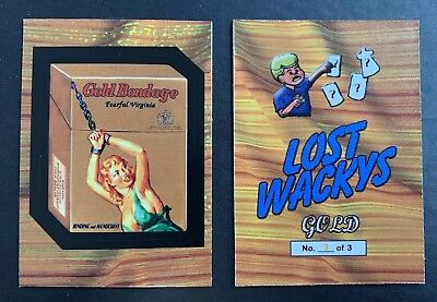 NEW Lost Wacky Packages 4th SERIES LIMITED GOLD Card GOLD BONDAGE Green #3/3